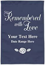 GRAPHICS & MORE Personalized Custom 2 Line Remembered with Love Rose Memorial Garden Yard Flag (Pole Not Included)