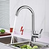 WOOHSE Niederdruck Wasserhahn Küche 360° Drehbar Einhandmischer Mischbatterie für Spüle Küche,...