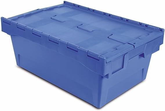 Tayg 6424-T Euro-caja con tapa para almacén y transporte, 600 X 400 X 240 mm: Amazon.es: Bricolaje y herramientas