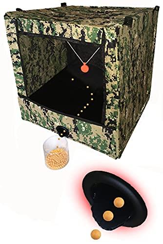 【次世代】シューティング ターゲット エアガン 的 標的 ボックス BB弾 射撃 消音ネット サバゲー DRACY® (黒)
