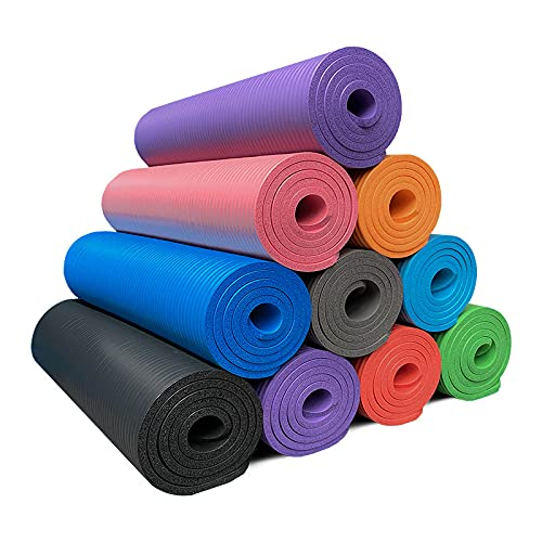 Yoga Mat Belted Non-Slip Yoga Mat-185cm x 80cm x 1cm TPE Exercise Mat is very suitable for yoga, Pilates, HiiT, meditation and gymnastics