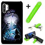 Hybrid Rugged Hard Cover Case Compatible with Galaxy Note 10+ (Plus) - Alice in Wonderland Cave (with Free Phone Stand Gift!)