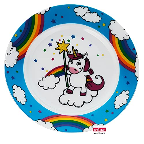 WMF Vajilla infantil con diseño de unicornio, 19,0 cm, porcelana, apta para lavavajillas, color y apto para alimentos