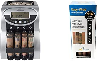 Royal Sovereign 2 Row Electric Coin Counter with Patented Anti-Jam Technology and Digital Counting Display (FS-2D),Blk/Sil...