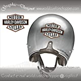2 ADESIVI STICKERS BAR AND SHIELD HARLEY DAVIDSON SERBATOIO CASCO MOTO CUSTOM (10 cm x 7 cm)