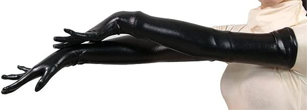 Seeksmile Unisex Shiny Metallic Spandex Glove
