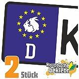 Karnickel - Kaninchen -Rammeln Kennzeichen Aufkleber Sticker Nummernschild - IN 15 FARBEN