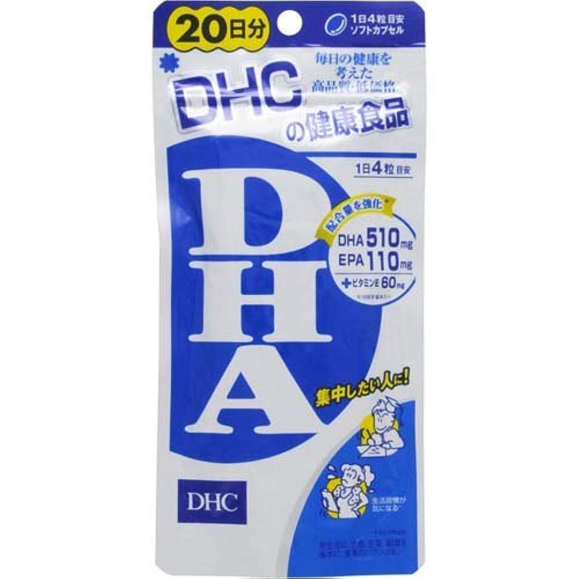 ほこりあたり困惑したDHC DHA (20日分) 80粒