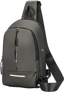 [マイロ] 肩掛け 大容量 ボディバッグ 斜めがけ イヤホンポート 黒 グレー 青 メンズ