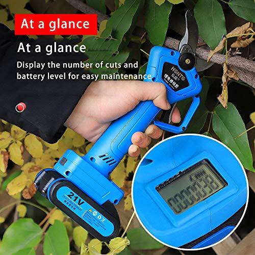 tijeras de podar el/éctricas con bater/ía de litio desmontable 2 bater/ía podadora de energ/ía recargable herramienta de poda Enchufe de la UE 110-240V Cortadora de ramas el/éctrica de 21V