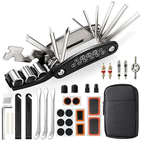 URBZUE Fahrrad Reparatur Set, Fahrrad Multitool Reparatursatz, 16-in-1 Werkzeuge für Fahrrad-Multitool Kit Multifunktionswerkzeug Reparatur Fahrradwerkzeug Tool für Mountainbike