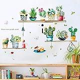 Pegatinas De Pared Nordic Ins Wind Cactus En Maceta Sala De Estar Dormitorio Armario Porche TV Fondo Autoadhesivo Pegatinas De Pared-Photo Color