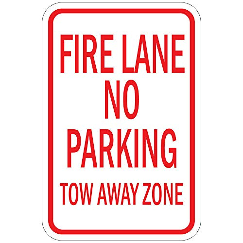 Vertical Metal Sign Multiple Sizes Fire Lane No Parking Tow Away Zone Home Wall Tin Sign 40x30cm Decoration