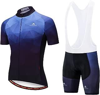 Uriah Men's Cycling Jersey Bib Shorts White Sets Short Sleeve Reflective