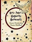 Harry Potter's Hogwarts Homework: Cursive Handwriting Workbook: Cursive Writing Practice with Favorite J.K. Rowling Quotes