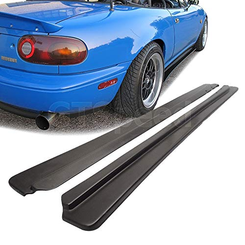 GT-Speed] Compatible/Replacement for FD Style PU Side Skirt Extensions Splitter Lip, 1990-1997 Mazda Miata NA MX5
