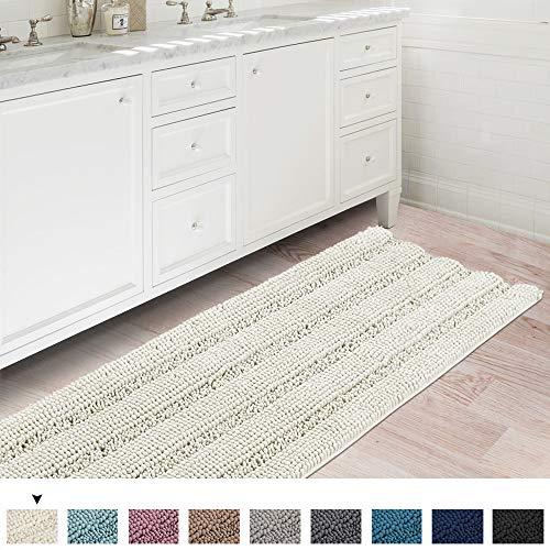 Flamingo P Oversize Non-Slip Bathroom Rug Shag Shower Mat Soft Thick Floor Mat Machine-Washable Bath...