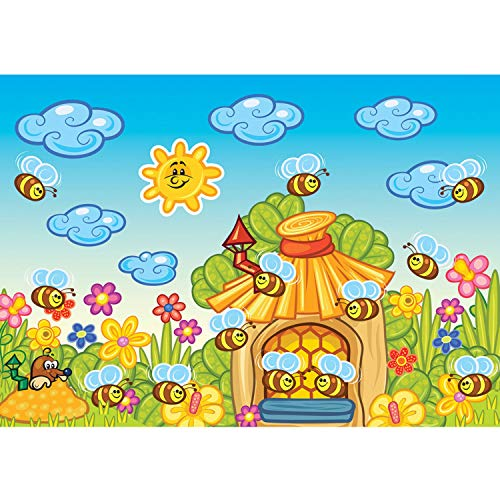 Vlies Fototapete PREMIUM PLUS Wand Foto Tapete Wand Bild Vliestapete - Bienen Honig Maulwurf Sonne - no. 3176, Größe:254x184cm Vlies