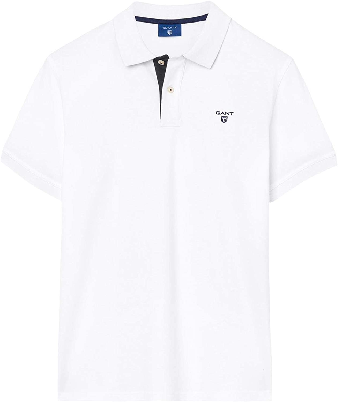 GANT Men's 1901252105110 White Cotton Polo Shirt