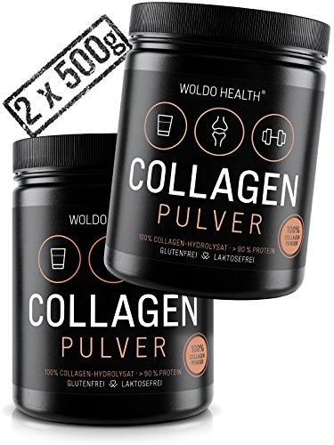 WoldoHealth Collagene da Bovini I 2x 500g Polvere Proteica puro I Idrolizzato I Ideale per le diete I paleo I Atkins I Keto e low Carb