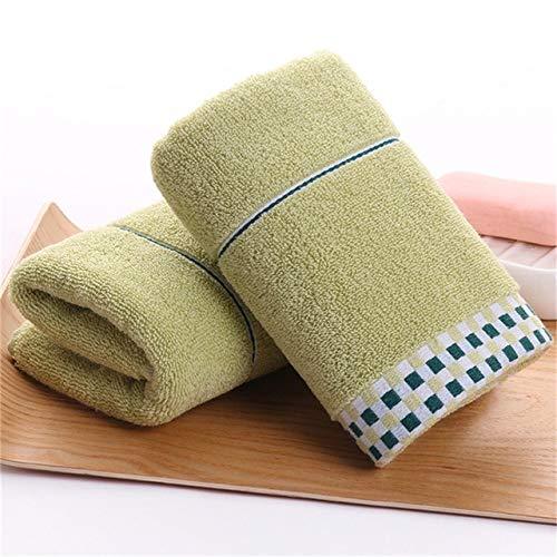XGQ Gruesa de algodón Absorbente de Doble Cara de Toallas, Color: Verde