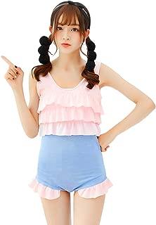 YOMORIO Anime Miss Kobayashi-san Dragon Maid Kanna Cosplay Costume Lolita Cute Ruffle Swimsuit Pink