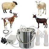 CJWDZ Milking Machine for Goats Cows, Pulsation Vacuum Pump Milker, Milking...