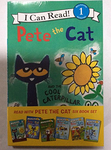 Pete the Cat 6 book set - level 1 beginning - Pete the Cat and the Cool caterpillar, and the lost to