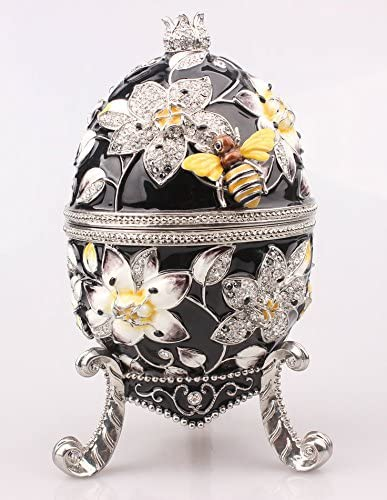 Max 48% OFF znewlook Bee Egg Trinket Box with Czech Opening large release sale Bia Crystal Size Sha