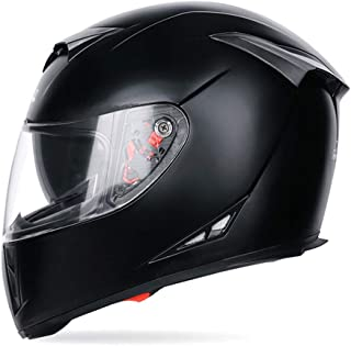 Zhizaibide Motorcycle Helmet Double Lens Anti-Fog Full Helmet Multi-Color Optional (Color : B, Size : M)