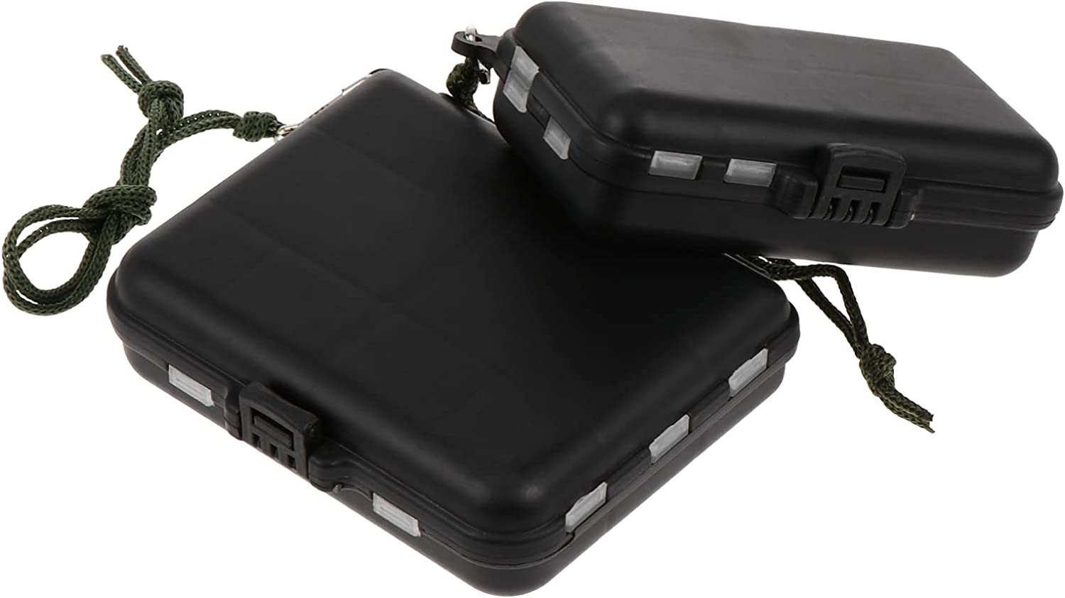 BESPORTBLE 2Pcs Fishing Tackle Container Accessory Boxes safety Translated