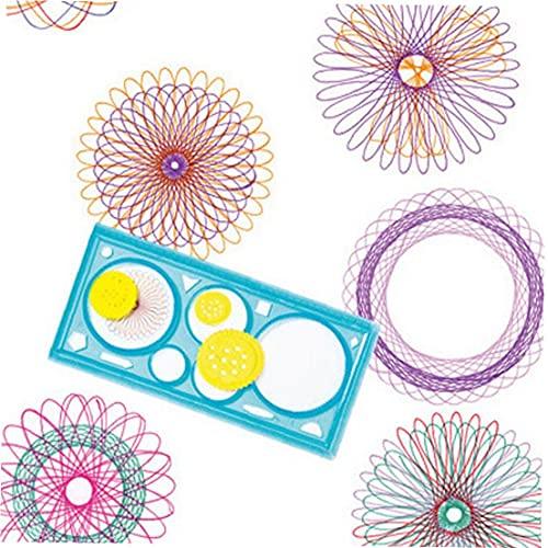 Espirógrafo conjunto de dibujos, Engranajes Pintura Herramienta Plantilla dibujo mágico espiral regla de plástico multifuncional para la escuela Niños Inicio color al azar creativo Pintura Regla