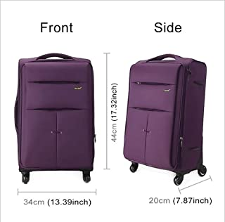 """Ysswjzz 20"""" Super Lightweight 4 Wheel Spinner Check-in Hold Luggage Suitcase Travel Trolley Case. (Color : Purple)"""
