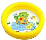 Intex 59409NP Plaschbecken Kinderpool My First Pool, 2-Ring, farblich sortiert (Gelb)