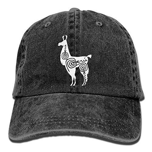 NOBRAND Secado Rápido Dad Hat,Cómoda Sombrero De Deporte,Transpirable Ocio Sombrero,Sports Denim Cap Alpaca Peru-1 Mujer Snapback Casquettes Gorra De Béisbol Ajustable