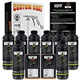 U-POL Raptor Tintable Urethane Spray-On Truck Bed Liner Kit w/Free Custom Coat Spray Gun with Regulator, 8 Quart Kit