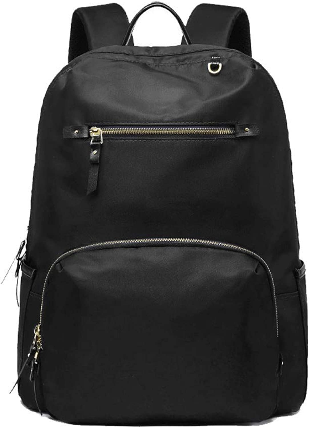 Backpack, fashion versatile lightweight large capacity Oxford cloth 14 inch laptop backpack unisex leisure travel travel work school backpack blueee blackblackA