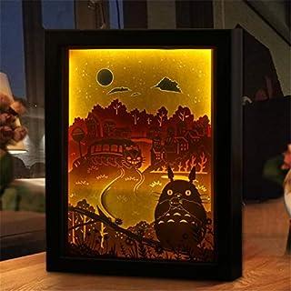 Attack on Titan Tonari no Totoro Anime Night Light 3D Paper Carving Table Lamp 3D Acrylic Nihgtlamp for Children Gift Home...