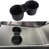 topfit Model 3 Center Console Silicone Cup Holder Water Cup Holder Insert Bottle Stand Interior Front Seat Cup Organizer Accessories for Model 3