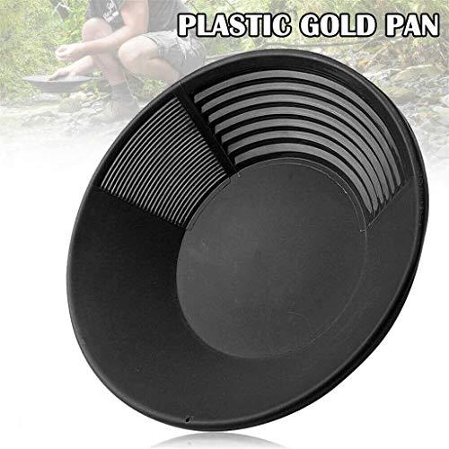 Fineday Gold Pan Basin Mining Dredging Prospecting Sifting Panning, Tools & Home Improvement, Home & Garden (Black)
