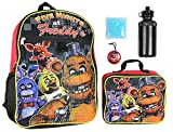 Five Nights At Freddy's 16' Backpack Lunch Box Water Bottle Lunch Kit -5 Piece Set