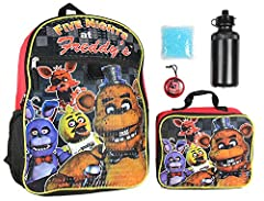 OFFICIALLY LICENSED FIVE NIGHTS AT FREDDY'S MERCHANDISE - This Five Night At Freddy's video game backpack is a guaranteed officially licensed product manufactured by one of the largest pop culture retail designers in the world, Bioworld. PERFECT BACK...