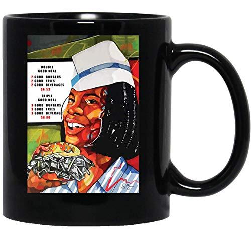 N\A Good Burger Hamburguesa fotográfica Hamburguesa con Queso Kenan Kel Money Cash Taza de café Divertida para Mujeres y Hombres Tazas de té Té