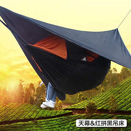YSCYLY campinghangmat, met combinatie van anti-muggen en Sky Screen Canopy, ademende tas, weerbestendig, camping, tuin, hangmat