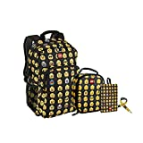 LEGO Kids Minifigure Backpack, Lunch, Pouch & Lanyard 4 Piece Set, Multicolor, One Size
