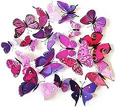 ueetek 12pcs Lovely mariposa en 3d pizarrón Imanes de nevera arte para bricolaje manualidades habitación decoración de pared