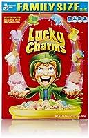 ラッキーチャーム マシュマロ入りオーツ麦シリアル ゼネラルミルズ社 General Mills Lucky Charms [並行輸入品]