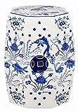 Safavieh Cloud 9 Koi Ceramic Decorative Garden Stool, Blue