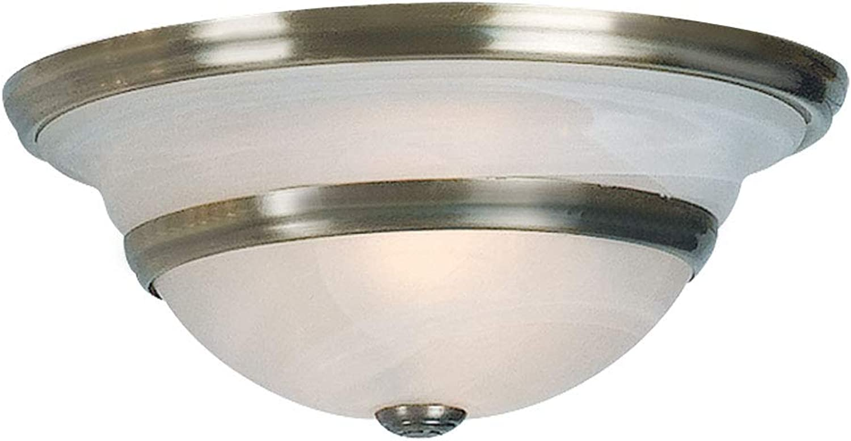 Plafonnier de style ancien de salon éclairage alt lampe en laiton verre blanc Globo 6895-2