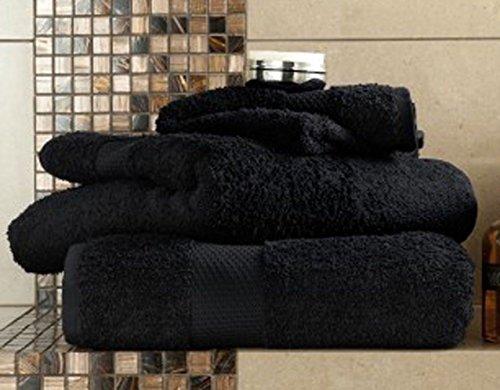 MBS 2x Black Extra Large 750GSM Jumbo Bath Sheets - Beach Towels 100%...